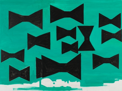 Untitled, 1987. Oil on canvas, 59 x 75 in (149.9 x 200.7 cm). MP 9