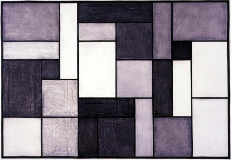 Untitled, 2005. Chalk and charcoal on paper, 78 x 107 inches (198.1 x 271.7 cm). MP 7
