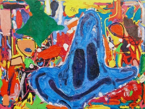 Blauer Schlumpf (Blue Smurf), 2009. Oil on canvas, 70.87 x 94.49 inches (180 x 240 cm). MP 41
