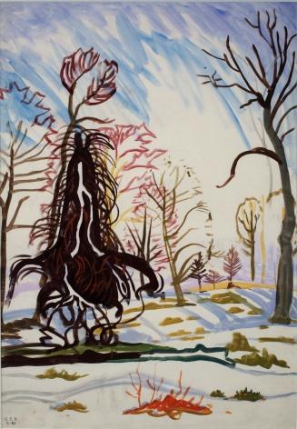 Charles Burchfield Windy Trees In Sunlight, c. 1917