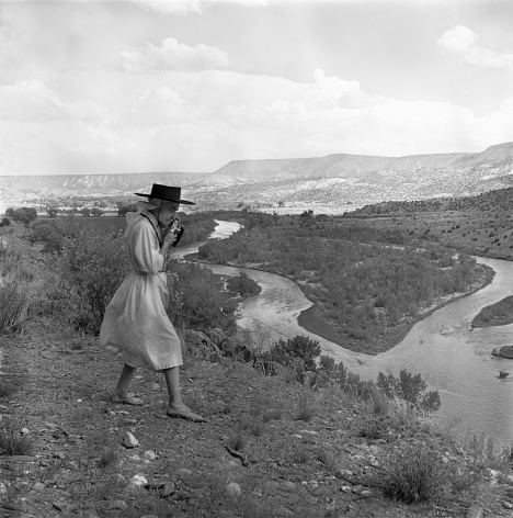 O'Keeffe Photographing the Chama River, 1961 Todd Webb