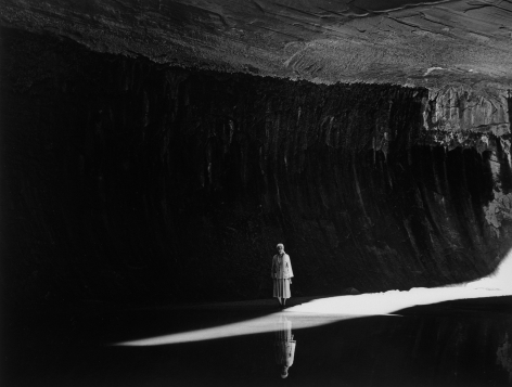 Georgia O'Keeffe in Twilight Canyon, 1964 Todd Webb