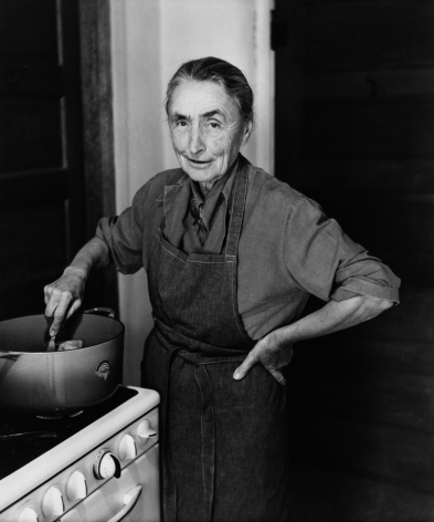 O'Keeffe Making a Stew at the Ghost Ranch, 1961 Todd Webb