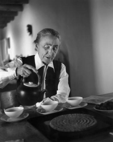 Georgia O'Keeffe Pouring Tea, Ghost Ranch, 1962 Todd Webb