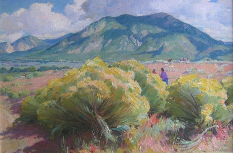 J H SHARP RABBIT BRUSH AT TAOS MOUNTAIN