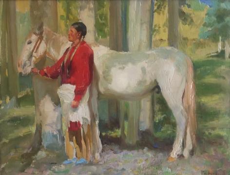 BERT GEER PHILLIPS indian with horse