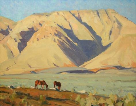 G. RUSSELL CASE ARIZONA HORSES 14 X 18