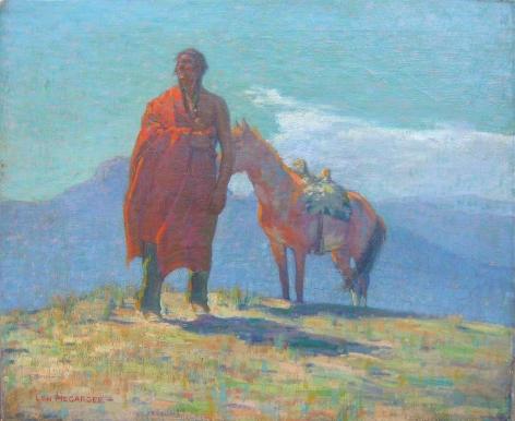 LON MEGARGEE NAVAJO HORSEMAN