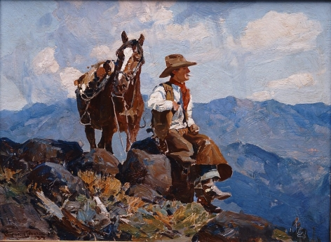 FRANK TENNEY JOHNSON WYOMING TRAIL