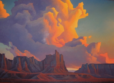 ED MELL BUILDING STORM COAL MINE CANYON
