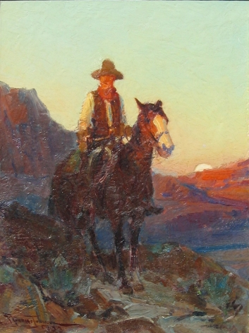 FRANK TENNEY JOHNSON SUSNSET FLUSH