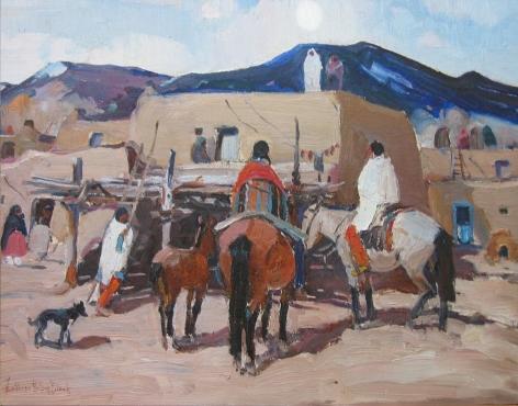 LAVERNE NELSON BLACK Taos Pueblo (No.23)