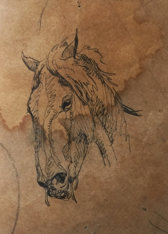 MAYNARD DIXON HORSE SKETCH