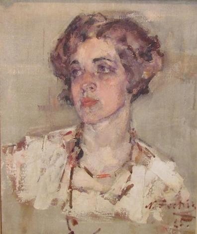 NICOLAI FECHIN PORTRAIT MRS DEAN CORNWALL
