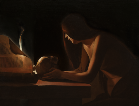 Georges de La Tour Penitent Magdalene Private Collection Nicholas Hall Art Gallery Dealer Old Masters
