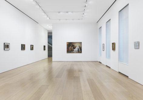 Installation View, Endless Enigma, Michaël Borremans, Jan Brueghel the Younger, Herri met de Bles, Antoni Tàpies, James Ward, Martin Schongauer, Gustave Moreau, Francis Alÿs
