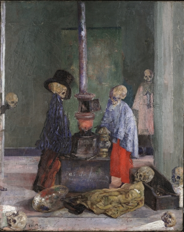 Ensor, James_Skeletons Warming Themselves_1889