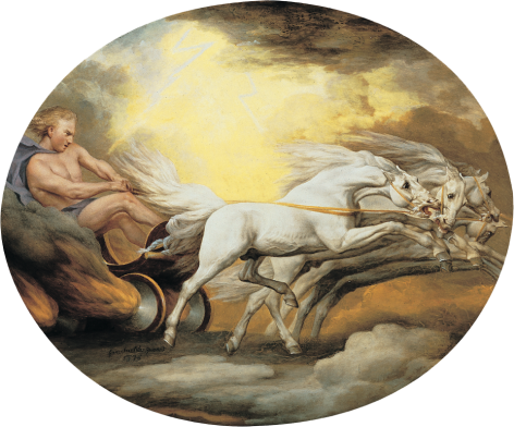 George Stubbs Phaeton and the Chariot of the Sun Private Collection Nicholas Hall Art Gallery Dealer Old Masters