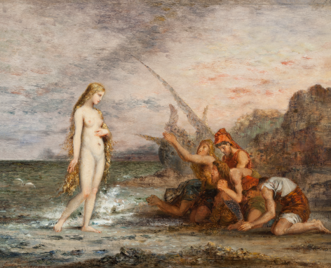 Gustave Moreau La Naissance de Venus Private Collection Nicholas Hall Art Gallery Dealer Old Masters