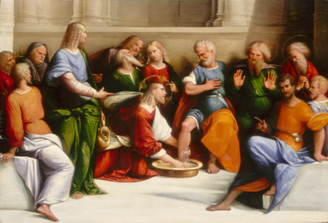Benvenuto Tisi, called Il Garofalo Washing the Feet of His Disciples National Gallery of Art, Washington D.C. Nicholas Hall Art Gallery Dealer Old Masters
