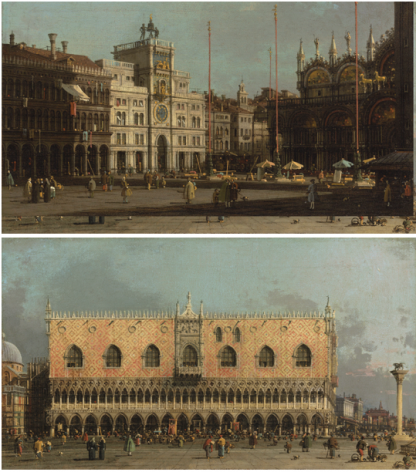 Giovanni Antonio Canal, called Canaletto (1697-1768), The Piazza San Marco and The Piazzetta with the Ducal Palace