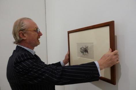 Nicholas Hall viewing Goya Visiones