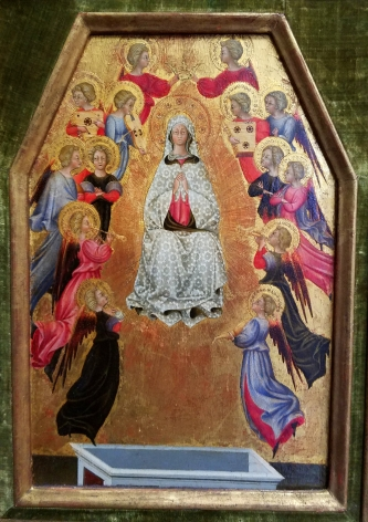 Pellegrino di Mariano Assumption of the Virgin, ca. 1475 The Hyde Collection, Glenns Falls Nicholas Hall Art Gallery Dealer Old Masters