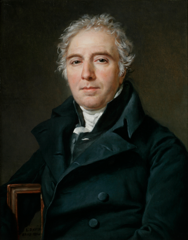 Jacques-Louis David Portrait of Ramel de Nogaret Private Collection Nicholas Hall Art Gallery Dealer Old Masters