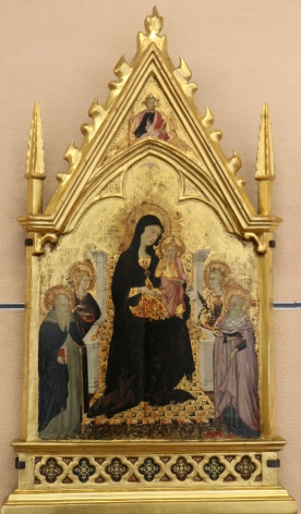 Pellegrino di Mariano Madonna and Child with Saints Musée du Petit Palais Avignon Sienese gold ground Nicholas Hall Art Gallery Dealer Old Masters