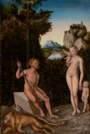 Lucas Cranach the Elder The Satyr Family J. Paul Getty Museum, Los Angeles Nicholas Hall Art Gallery Dealer Old Masters