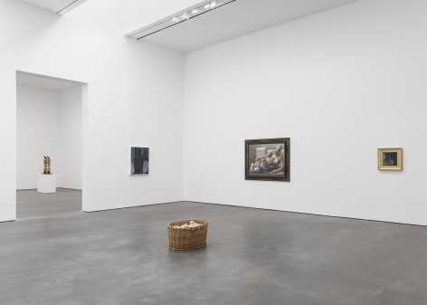 Installation View, Endless Enigma, Sherrie Levine, Kerry James Marshall, Giorgio de Chirico, Robert Gober