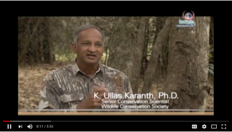 K. Ullas Karanth, Ph.D., Wildlife Conservation Society