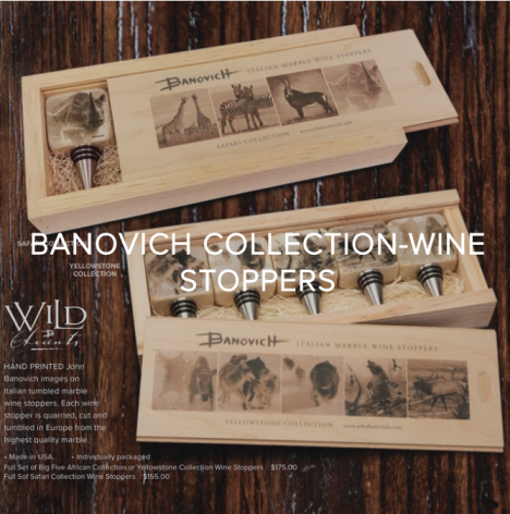 YOU GIVE BACK WHEN YOU COLLECT BANOVICH WILD ACCENTS - SHOP WINE STOPPERS