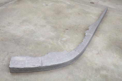 Curb, 2013.Aluminum.118.11 x 3.94 x 11.81 inches (300 x 10 x 30 cm)