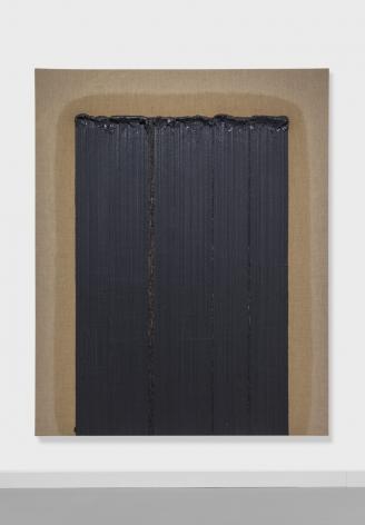 Ha Chong-Hyun, Conjunction 02-032 (2002). Oil on hemp cloth, 227 x 182 cm (89.37 x 71.65 inches), Tina Kim Gallery