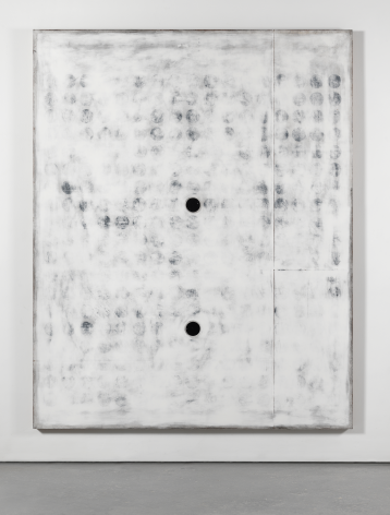 Untitled, 2016. Plaster, gesso & lacquer on wood. 80 x 64 inches (203.2 x 162.6 cm)