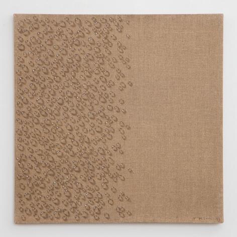 Kim Tschang-Yeul, Water Drops, 1973, Oil on Linen, Tina Kim Gallery