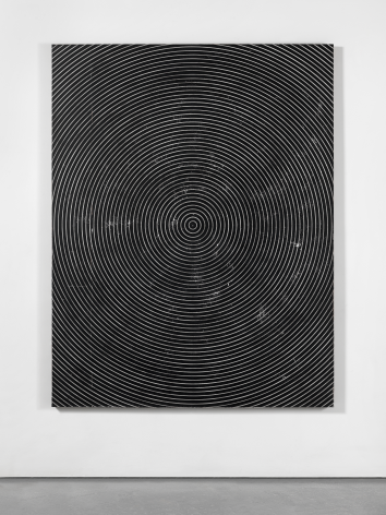 Untitled, 2016. Plaster, gesso & lacquer on wood. 72x 56inches (182.9x 142.2cm)