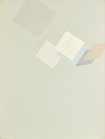 Suh Seung-Won, Simultaneity 77-360, 1977. Oil on canvas (51.3 x 38.19 inches).