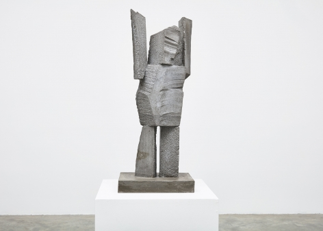 Gimhongsok (b. 1964), Surrender - King, 2018, High-strength grout cement, Sculpture, 40.94 x 15.75 x 11.81 inches, 104 x 40 x 30 cm Edition 1/3, 2AP, Gimhongsok: Dwarf, Dust, Doubt at Tina Kim Gallery
