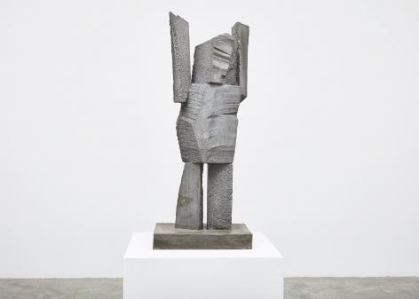 Gimhongsok (b. 1964), Surrender - King, 2018, High-strength grout cement, Sculpture, 40.94 x 15.75 x 11.81 inches, 104 x 40 x 30 cm Edition 1/3, 2AP, Gimhongsok: Dwarf, Dust, Doubt at Tina Kim Gallery