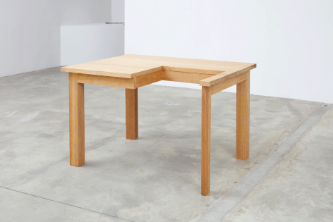 Table, 2007. Wood. 47.24 x 28.94 x 35.43 inches (120 x 73.5 x 90 cm)