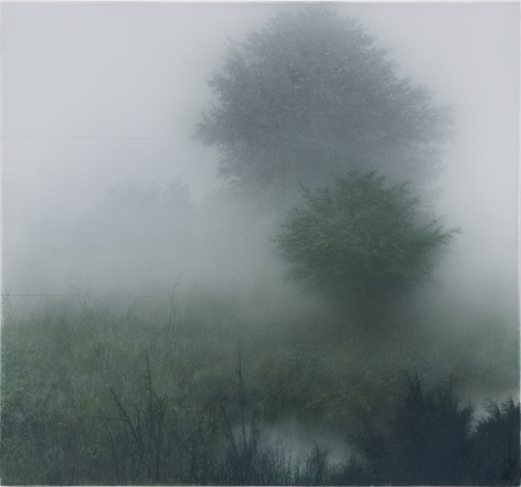 Kibong Rhee (b. 1957) Every dawn, 2020 Polyester fiber, acrylic pigment on canvas 38.98 x 36.22 inches 99 x 92 cm