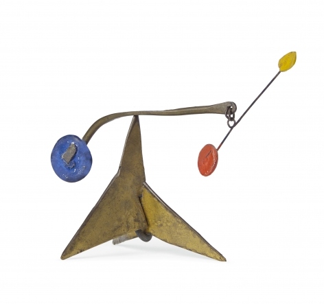 Alexander Calder,Untitled standing mobile,c. 1950. Sheet metal, brass, wire and paint (2.13 x 3.27 x 1.61 inches(.