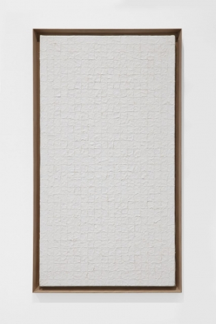 Chung Sang-Hwa, Untitled 90-2-16, 1990. Acrylic on canvas. 30.59 x 16.73 inches (77.7 x 42.5 cm).