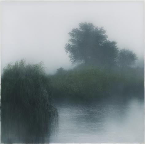 Kibong Rhee (b. 1957) Slow dawn, 2020 Polyester fiber, acrylic pigment on canvas 41.14 x 41.14 inches 104.5 x 104.5 cm