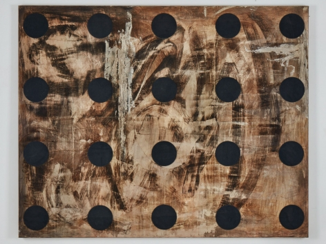 Untitled, 1992.Mixed media on canvas.71.46 x 89.37 inches (181.5 x 227 cm)