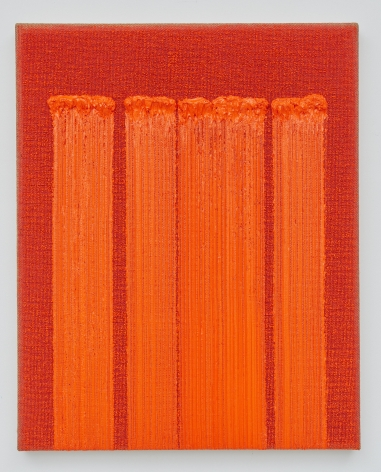 Ha Chong-Hyun,Conjunction 19-16, 2019. Oil on hemp cloth (35.83 x 28.74 inches).
