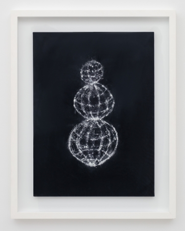 Minouk Lim (b. 1968) Happy Days, 2011 Powdered cuttlefish bone on velvet 29.53 x 21.65 x .79 inches 75 x 55 x 2 cm