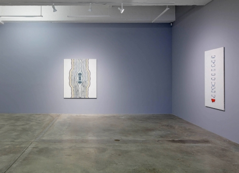 Installation view of Kim Tschang-Yeul: New York to Paris at Tina Kim Gallery, 2019, New York